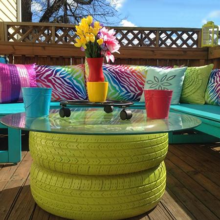 Home dzine craft ideas have fun with rust oleum spray paint for Creative spray paint ideas
