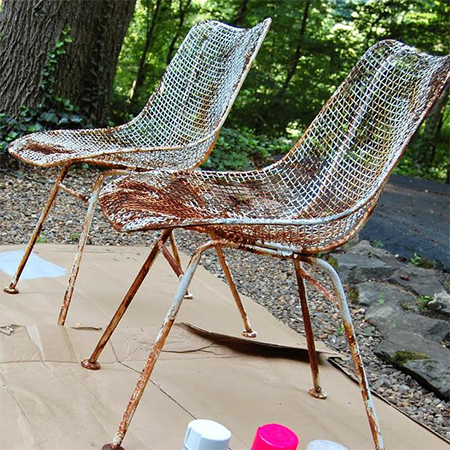 HOME DZINE Craft Ideas Give Rusty Steel Furniture A Makeover