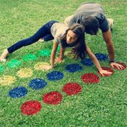 Outdoor twister game for family fun!