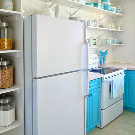 Boring traditional kitchen goes chic do it yourself
