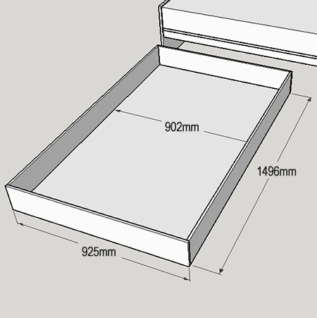Home Dzine Home Diy How To Make Underbed Storage Drawers