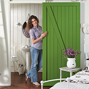 Easy barn style sliding door