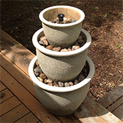 Cool water feature for a hot garden