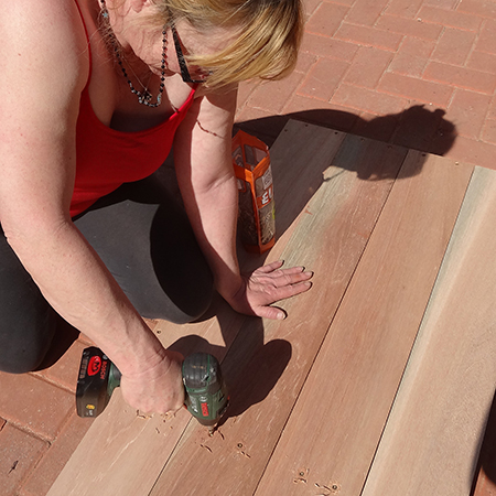 diy how to make outdoor patio furniture attach slats
