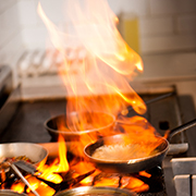 How to put out an oil fire in the kitchen