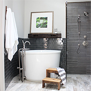 Bathroom goes from drab to absolutely fab!