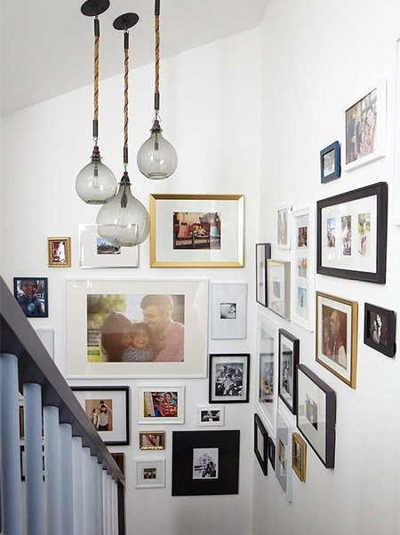 Home dzine home decor creative ways to display your for Displaying pictures in your home