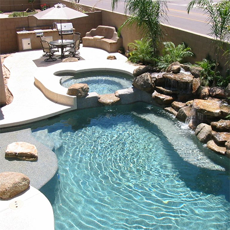 Home dzine garden ideas build your dream swimming pool from scratch for Swimming pool entertaining areas