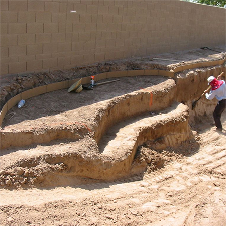 how to build diy swimming pool excavate