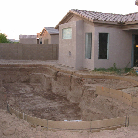 how to build diy swimming pool concrete forms
