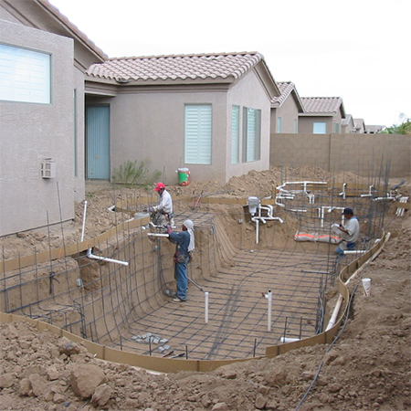 how to build diy swimming pool reinforcing
