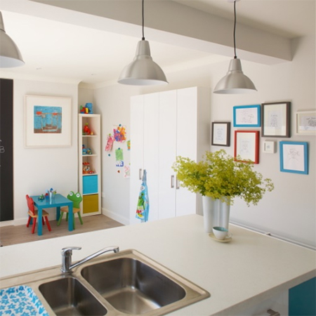 Family home that's filled with colour kitchen