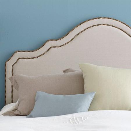easy upholstered headboard ideas nailhead trim