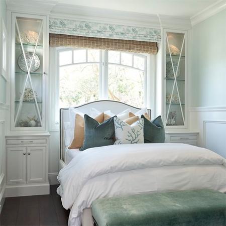 easy upholstered headboard ideas nailhead trim coastal style