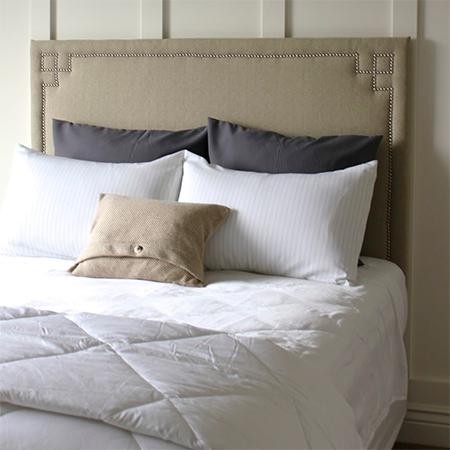 easy upholstered headboard ideas nailhead trim rectangular  shape