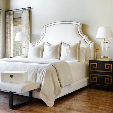 easy upholstered headboard ideas nailhead trim romantic bedroom