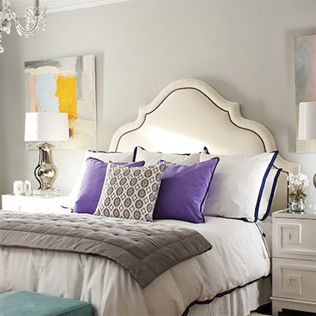 easy upholstered headboard ideas nailhead trim curved shape
