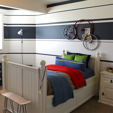 HOME DZINE Bedrooms | Before and after teen boys bedroom ...