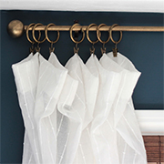 PVC curtain rod and finials!