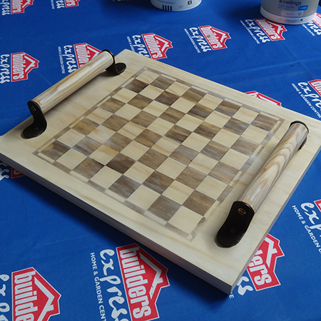 diy how to make a pine chess board