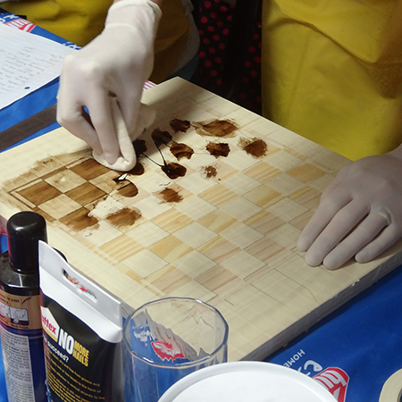 diy how to make a pine chess board woodoc gel stain