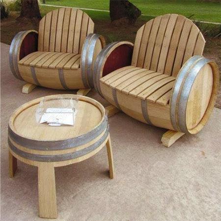 Home Dzine Garden Ideas Garden Furniture Made From Wine Barrels