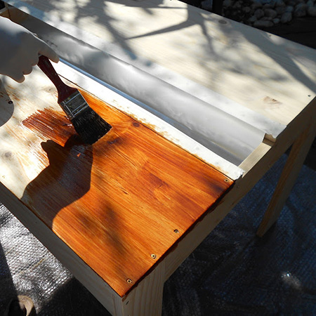 woodoc 50 or 55 exterior sealer for outdoor garden furniture