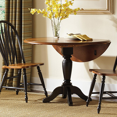 Make a diy circular or round drop-leaf dining table