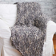Knit a cosy throw... without knitting needles!