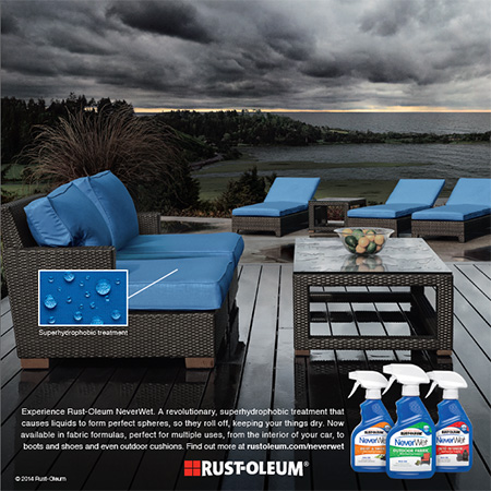 Don't let it rain on your parade - use Rust-Oleum NeverWet!