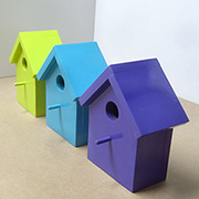 Pretty birdhouses with Rust-Oleum 2X Ultra Cover