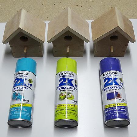 Home Dzine Craft Ideas Pretty Birdhouses With Rust Oleum
