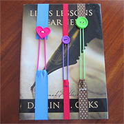 Button and ribbon bookmark for Mother's Day