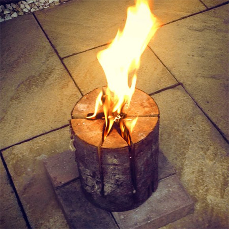 Build a swedish fire log