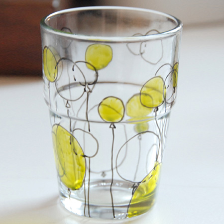 Decorate with glass stain