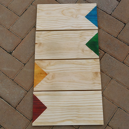 colourful cutting board or serving platters