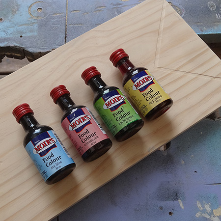 food colouring wood stain