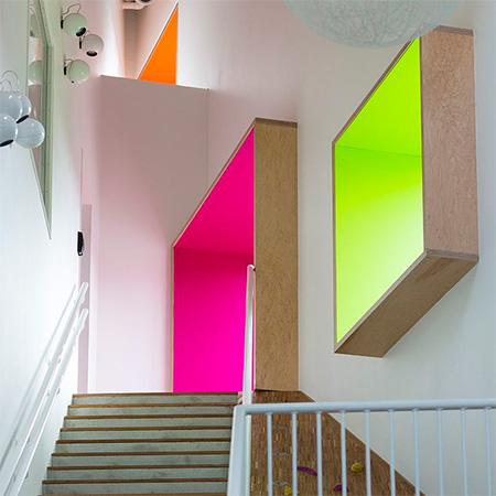 Home dzine if your home needs a pop or two of colour for Neon yellow wall paint