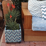 Mosaic planter or water feature