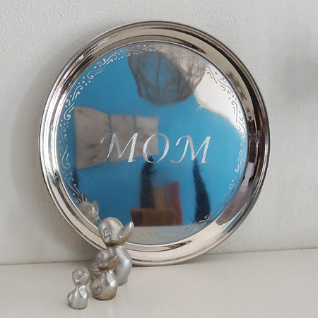 dremel fortiflex engrave stainless steel tray for mothers day