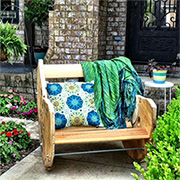 Cable spool outdoor furniture