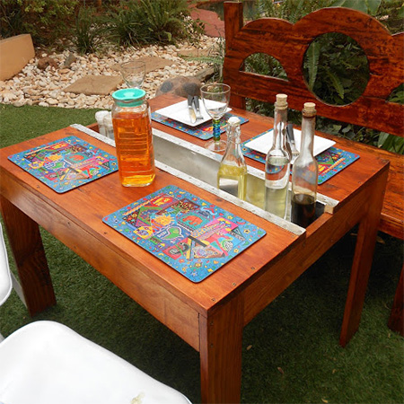 Make a garden table on a budget