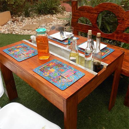 Make a garden table on a budget