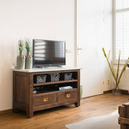 reclaimed timber wood tv cabinet unit ideas