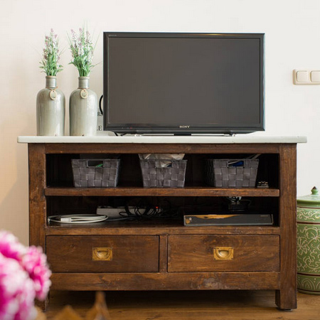 reclaimed timber wood tv cabinet ideas