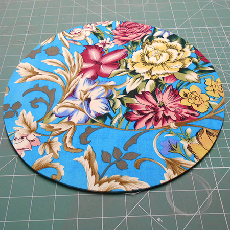 make fabric wrapped charger plates