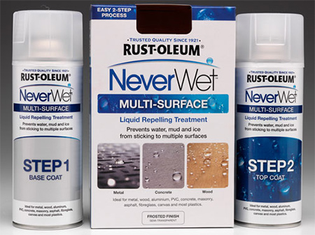 use rustoleum never wet to coat fabric wrapped charger plates