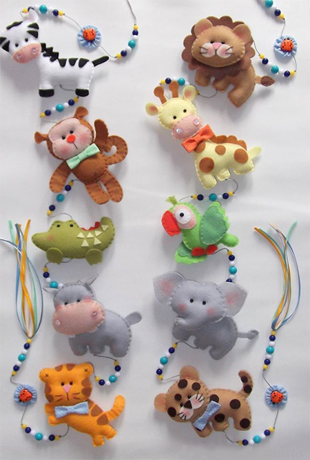 Home Dzine Craft Ideas Ideas For Felt Nursery Mobile