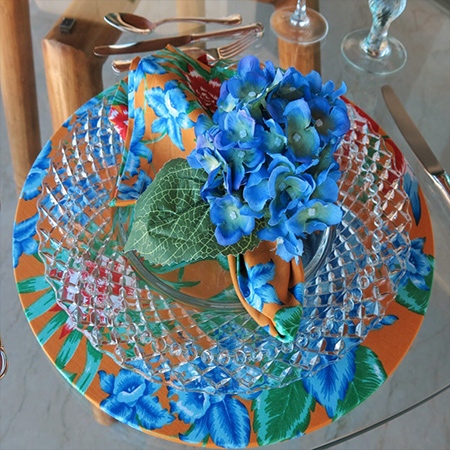 diy make floral fabric wrapped charger plates