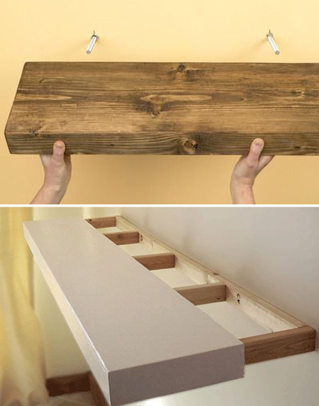 home dzine home diy easy shelf ideas that you can diy rh home dzine co za making wall shelves for heavy books making wall shelves for heavy books